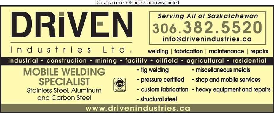 Driven Industries Ltd - Welding Digital Ad