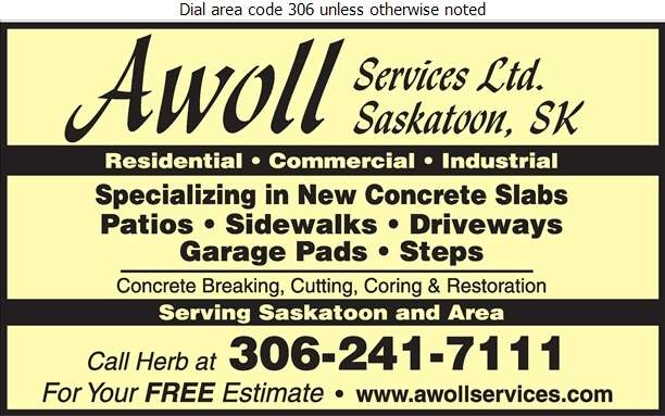 Awoll Services Ltd - Concrete Breaking & Cutting Digital Ad
