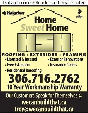 Home Sweet Home Builders - Roofing Contractors Digital Ad