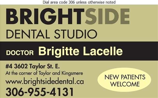 Brightside Dental Studio (Dr Brigitte Lacelle Dentist) - Dentists Digital Ad