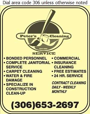 Peter's Cleaning Service - Janitor Service Digital Ad