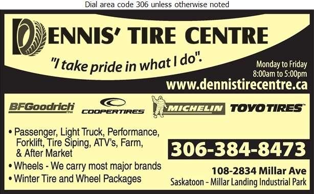 Dennis' Tire Centre Ltd - Tire Dealers Retail Digital Ad