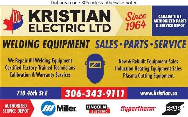 Kristian Electric Ltd - Welding Equipment Repairing Digital Ad
