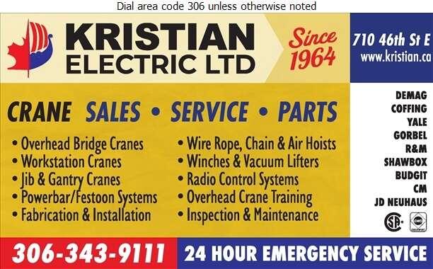 Kristian Electric Ltd - Cranes Digital Ad