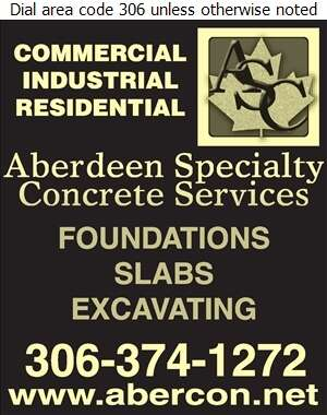 Aberdeen Specialty Concrete Services - Concrete Contractors Digital Ad