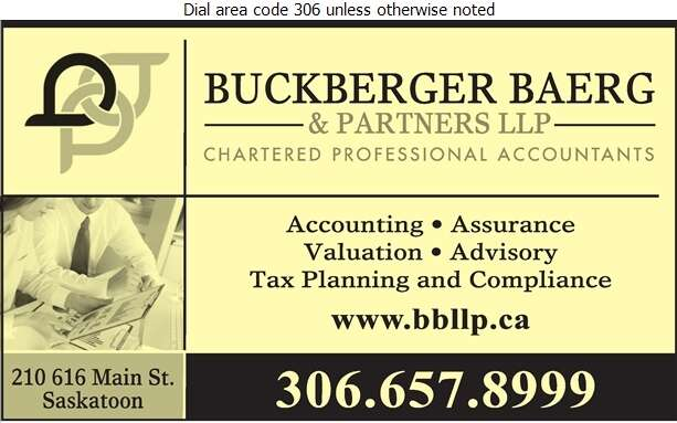 Buckberger Baerg & Partners LLP - Accountants Chartered Professional Digital Ad