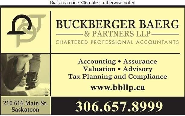 Buckberger Baerg & Partners LLP - Accountants Chartered Professional Digital Ad