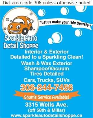 Sparkle Auto Detail Shoppe - Auto Cleaning Digital Ad