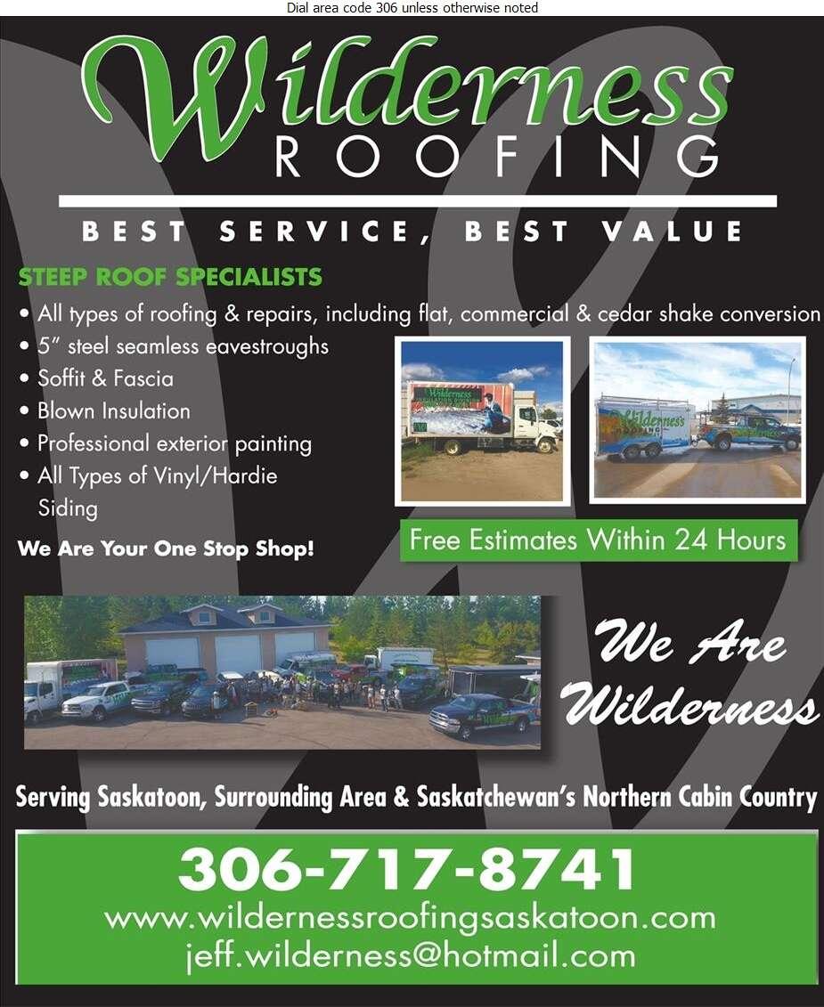 Wilderness Roofing - Roofing Contractors Digital Ad