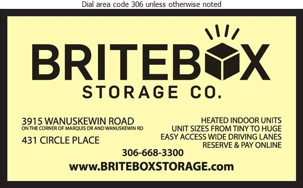 BRITEBOX Storage Co - Storage- Household & Commercial Digital Ad
