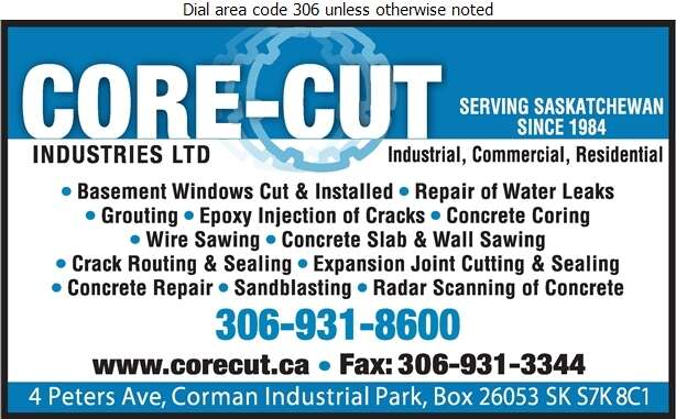 Core-Cut Industries Ltd - Concrete Breaking & Cutting Digital Ad