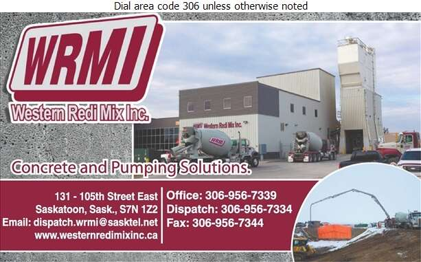 Western Redi Mix Inc (Office) - Concrete Ready Mixed Digital Ad