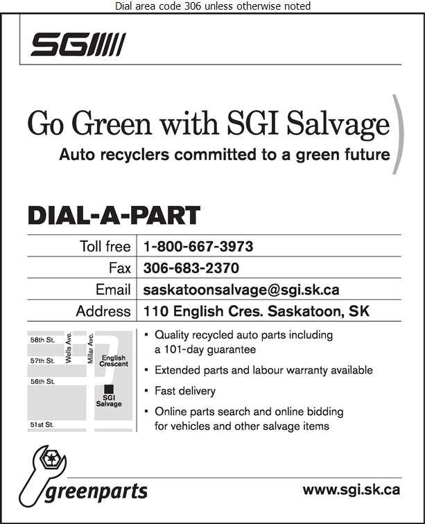 SGI Salvage - Auto Wrecking Digital Ad