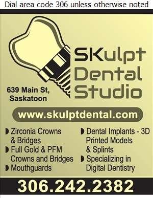Skulpt Dental Studio Inc - Dental Laboratories Digital Ad
