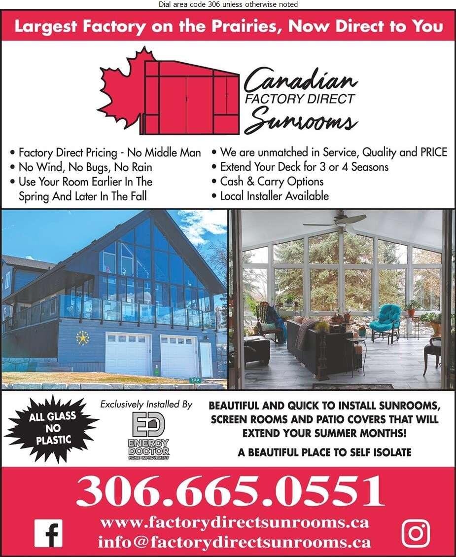 Canadian Factory Direct Sunrooms - Sun Rooms & Solariums Digital Ad