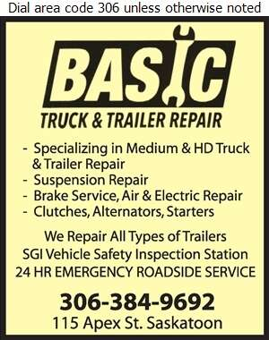 Basic Truck & Trailer Repair Incorporated - Truck Repairing & Service Digital Ad