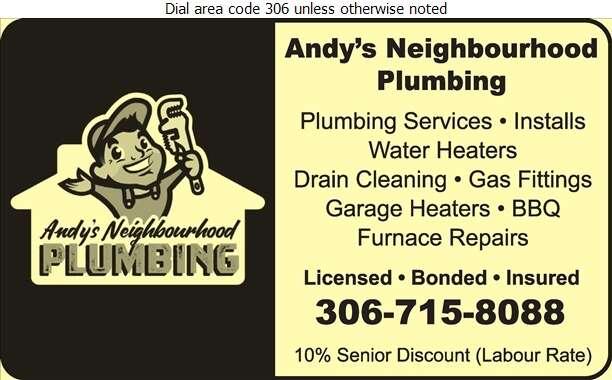 Andy's Neighbourhood Plumbing - Plumbing Contractors Digital Ad