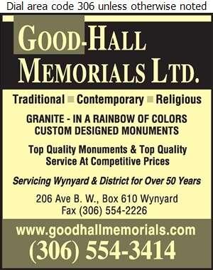Good Hall Memorials (2008) Ltd - Monuments Digital Ad