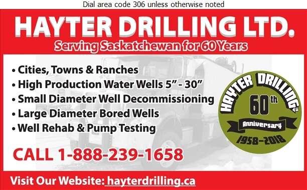 Hayter Drilling Ltd (Shop) - Water Well Drilling & Service Digital Ad