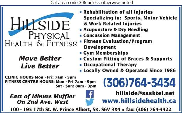 Hillside Physical Health And Fitness - Physical Therapy Digital Ad
