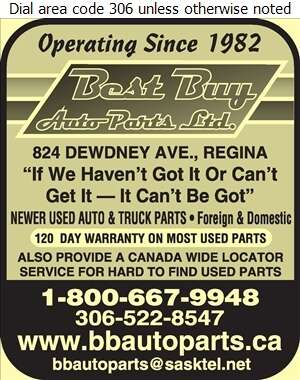Best Buy Auto Parts Ltd - Auto Wrecking Digital Ad