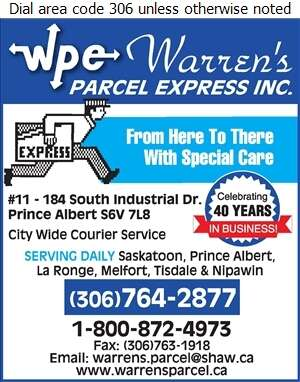 Warren's Parcel Express - Courier Service Digital Ad