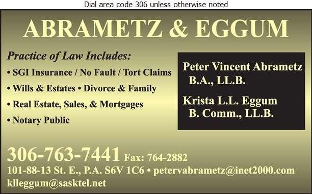 Abrametz & Eggum - Lawyers Digital Ad