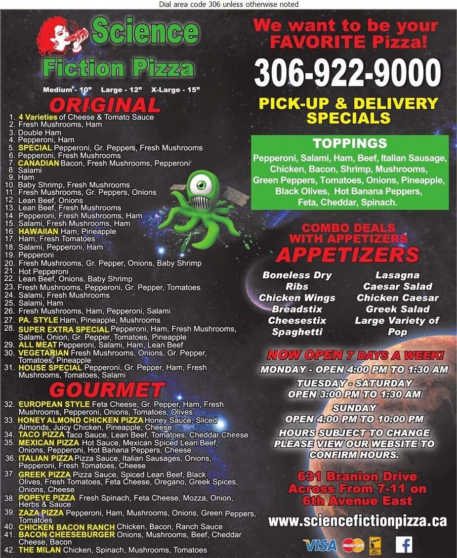 Science Fiction Pizza - Pizza Digital Ad