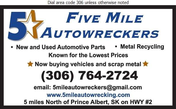 Five Mile Auto Wreckers - Auto Wrecking Digital Ad