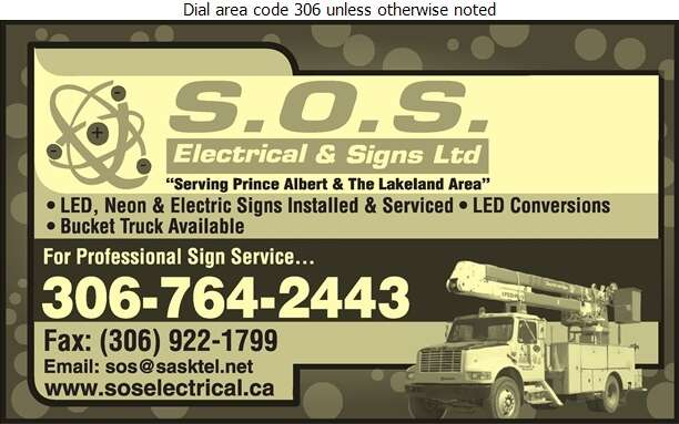 SOS Electrical (1998) Ltd - Signs Digital Ad