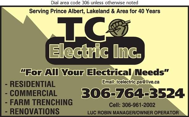 T C Electric Inc - Electric Contractors Digital Ad