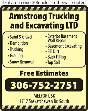Armstrong Trucking & Excavating Ltd - Sand & Gravel Digital Ad