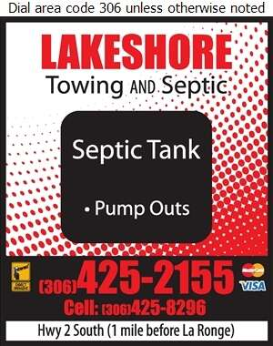 Lakeshore Towing And Septic - Septic Tanks Sales & Service Digital Ad