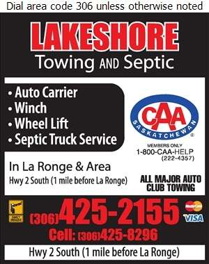 Lakeshore Towing And Septic - Towing & Boosting Service Digital Ad