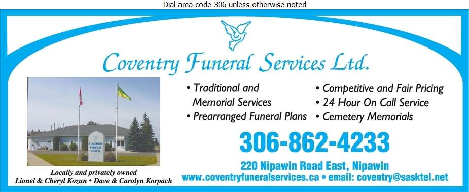 Coventry Funeral Services - Funeral Homes & Planning Digital Ad