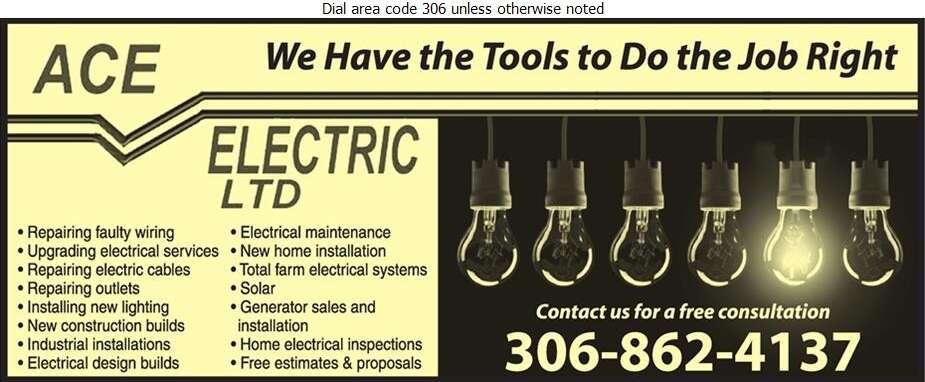 Ace Electric Ltd - Electric Contractors Digital Ad