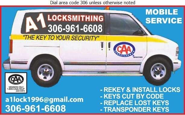 A 1 Locksmithing - Locksmiths Digital Ad