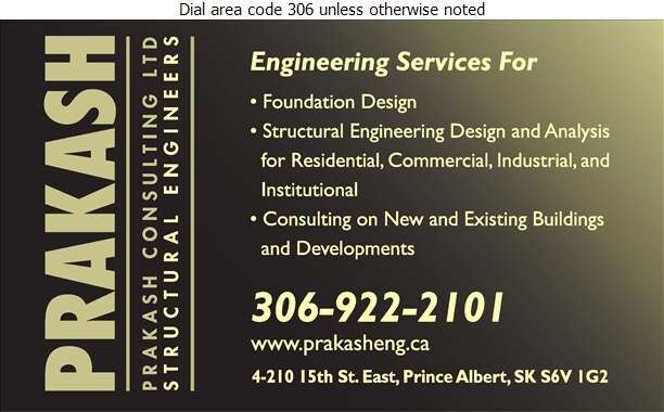 Prakash Consulting Ltd - Engineers Structural Digital Ad