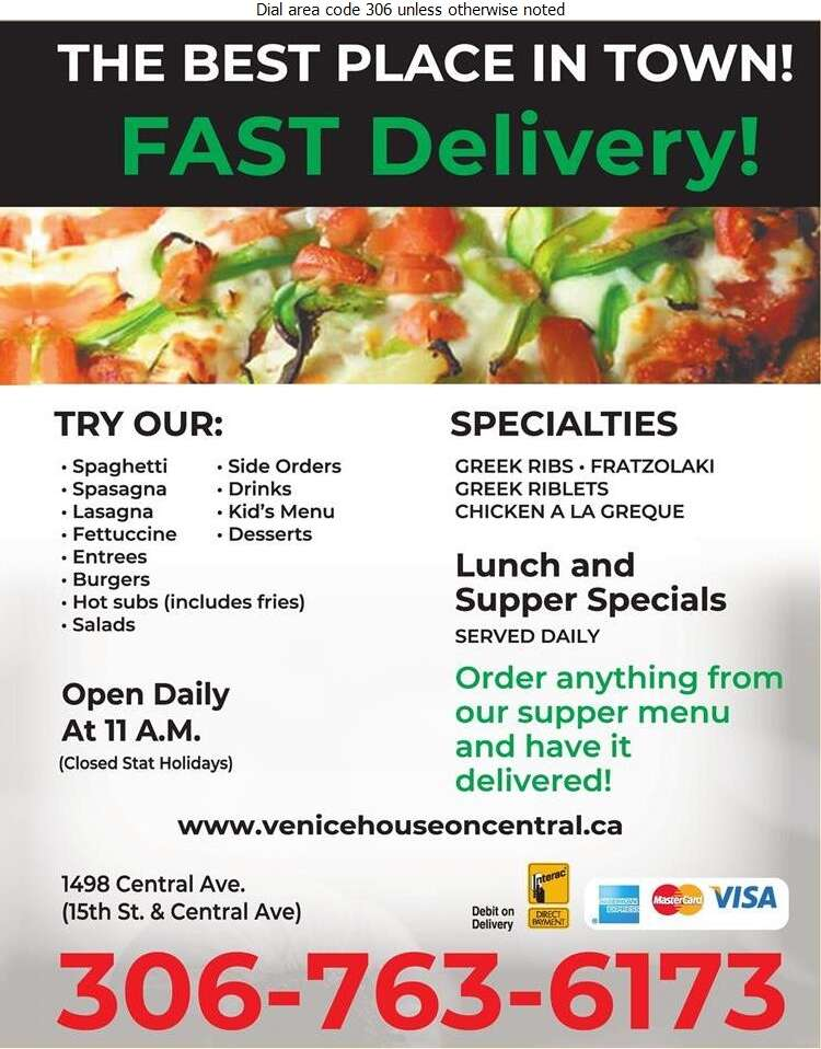 Venice House (Reservations) - Pizza Digital Ad
