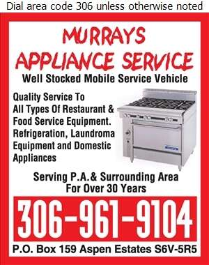 Murrays Appliance Service - Restaurant Equipment Repair, Service & Installation Digital Ad