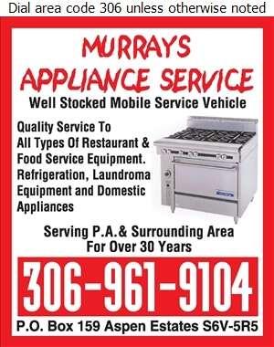 Murrays Appliance Service - Restaurant Equipment Repair, Service & Installation Digital Ad