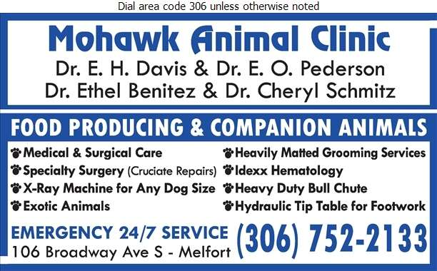 Mohawk Animal Clinic - Veterinarians Digital Ad