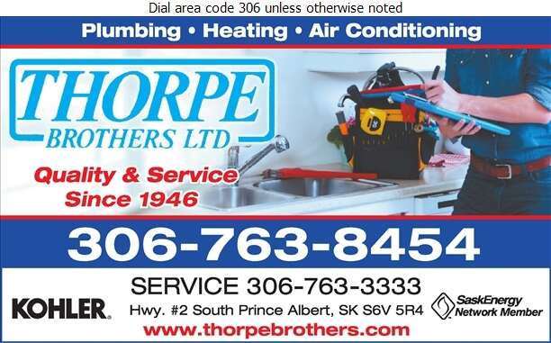 Thorpe Brothers Limited (Service) - Plumbing Contractors Digital Ad