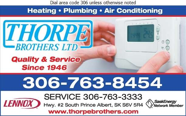 Thorpe Brothers Limited (Service) - Heating Contractors Digital Ad
