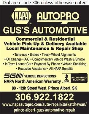 Gus's Automotive Services - Auto Repairing Digital Ad