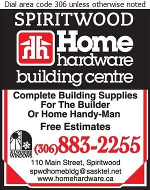 Spiritwood Home Building Centre - Lumber Retail Digital Ad