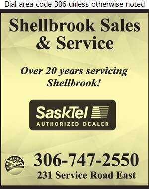 Shellbrook Sales & Service (1994) Ltd - Cellular Telephones Digital Ad