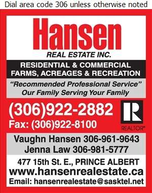 Hansen Real Estate Inc (Vaughn Hansen) - Real Estate Digital Ad