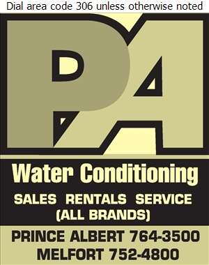 Prince Albert Water Conditioning - Water Softening Equipment Service & Supplies Digital Ad
