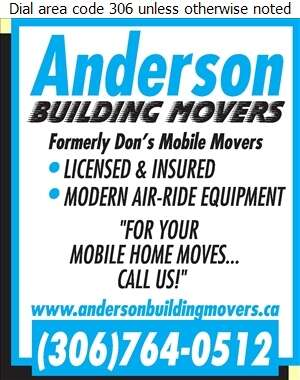 Anderson Building Movers - Mobile Homes Transporting Digital Ad